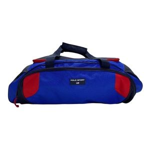 Vintage Polo Sport Duffle Bag 90s Blue & Black